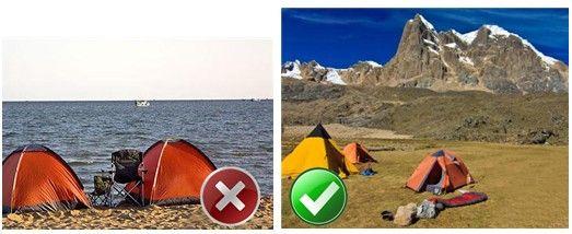 看似浪漫实则危险 五种不可选的露营方式